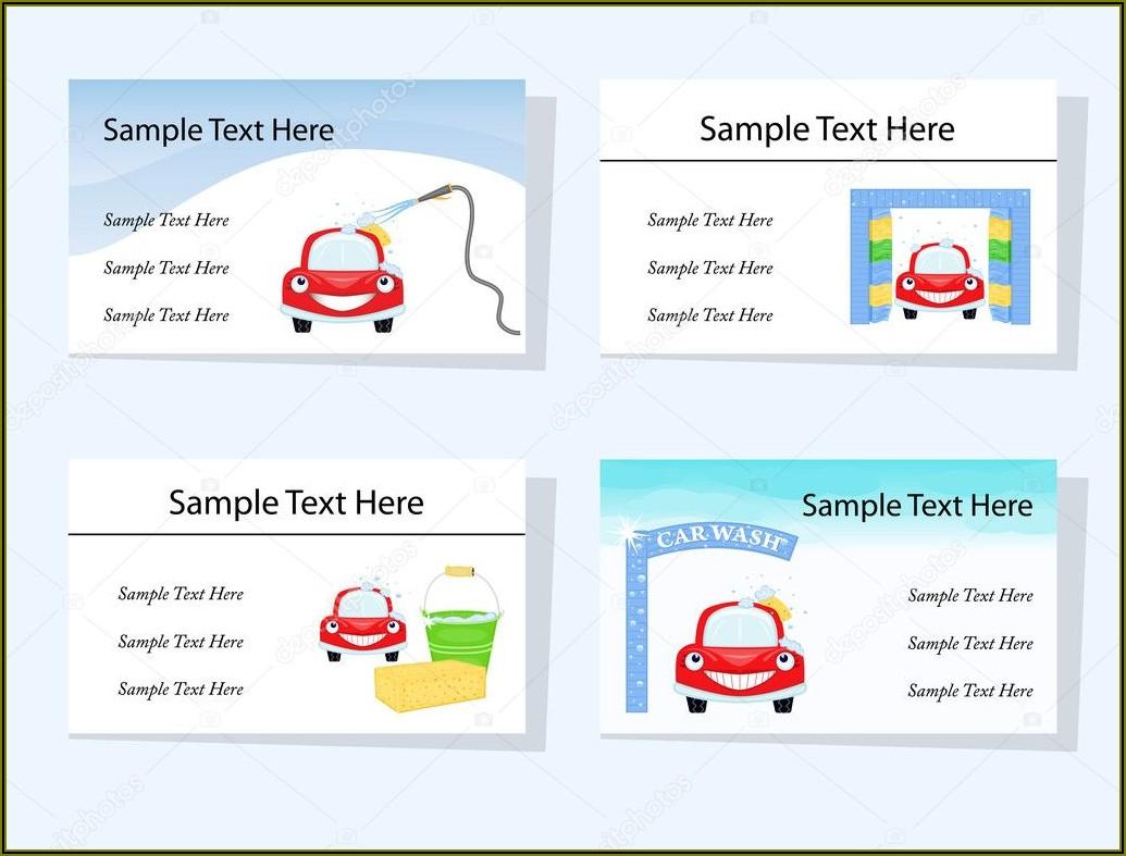Sample Car Detailing Business Cards