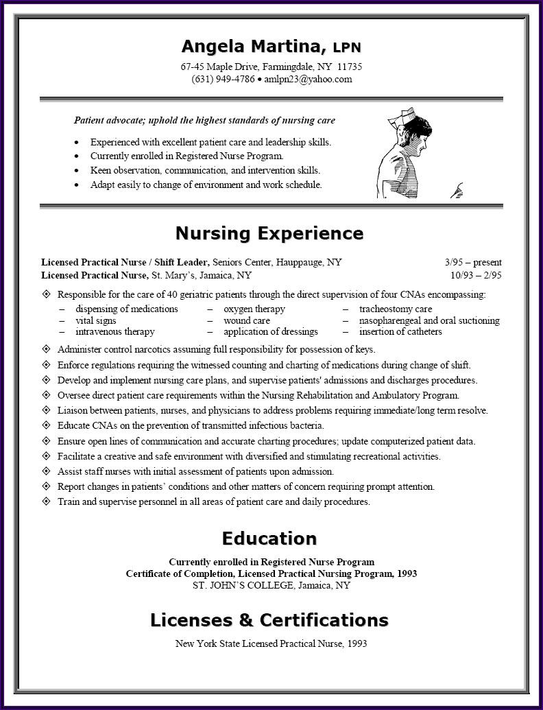 Sample Resume For Registered Practical Nurse In Canada