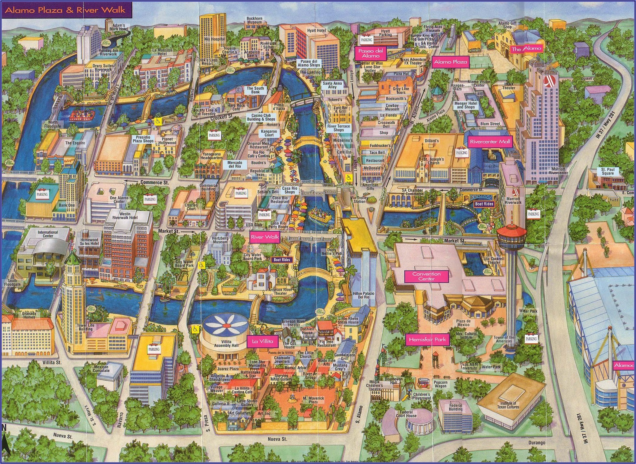 San Antonio Riverwalk Google Maps