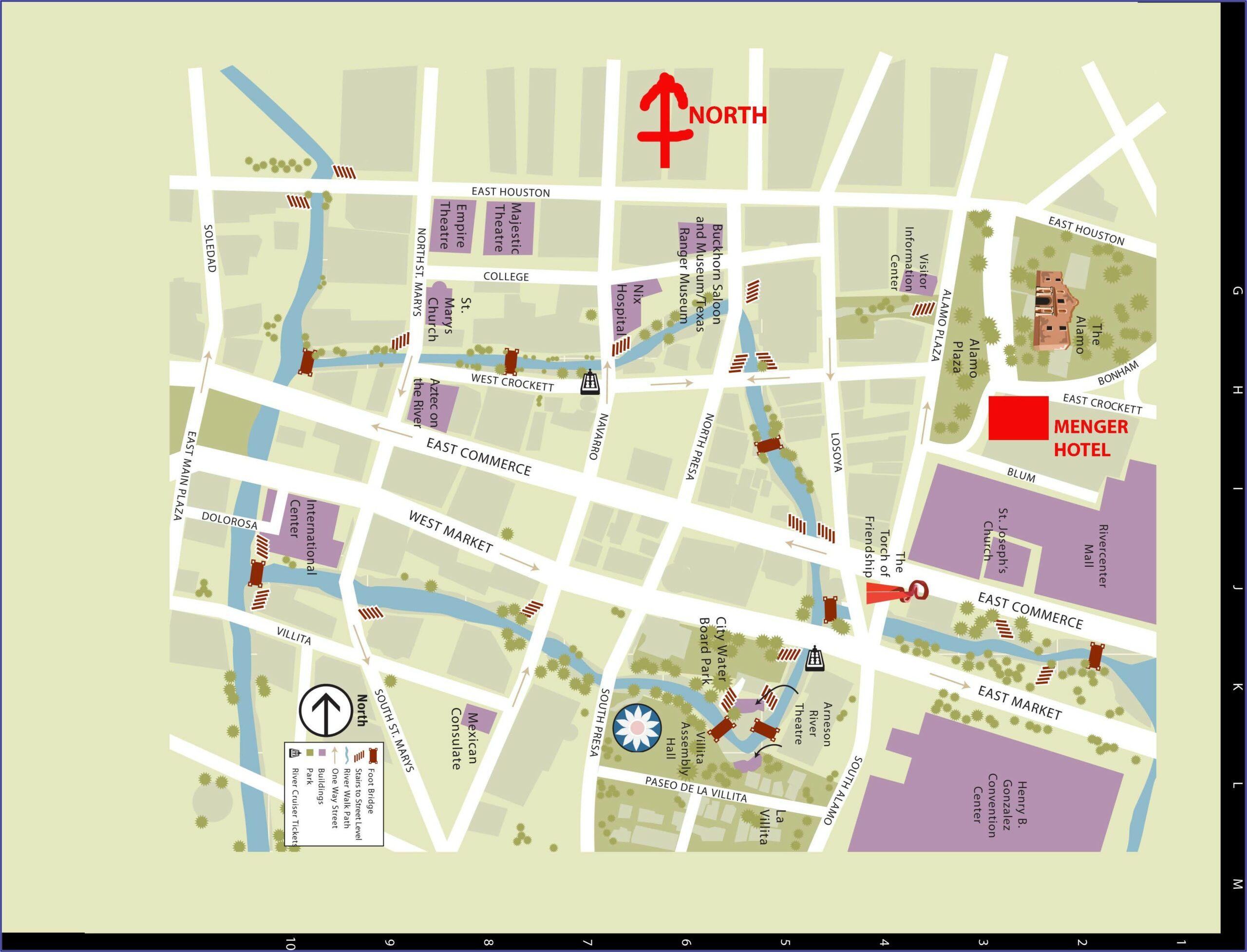 San Antonio Riverwalk Parking Map
