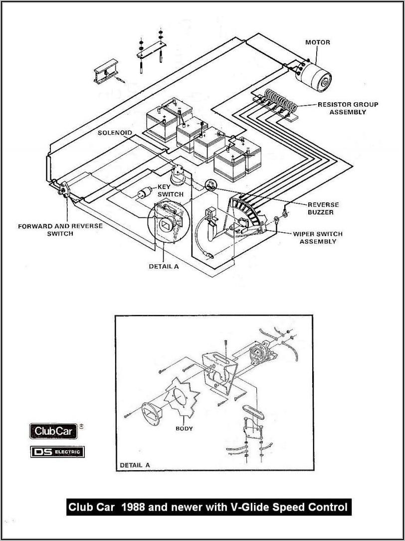 Schematic Club Car Wiring Diagram 36 Volt