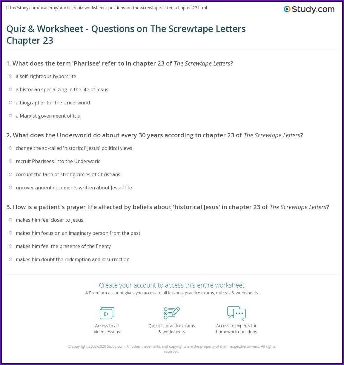 Screwtape Letters Summary Letter 1