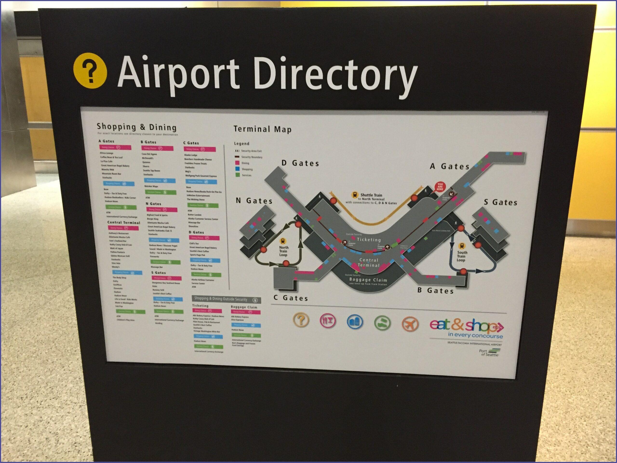 Seatac Airport Map Alaska Airlines Terminal