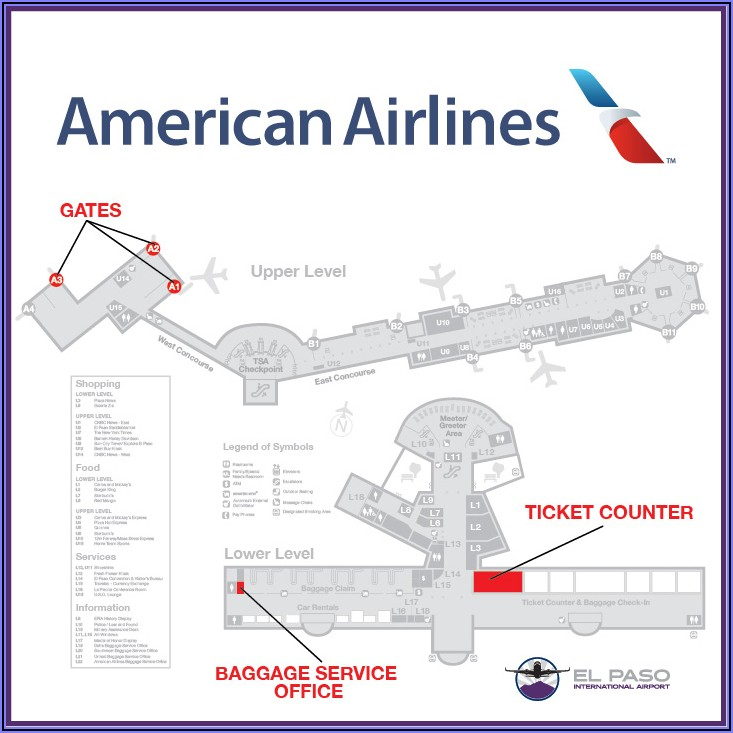 Seatac Airport Map American Airlines