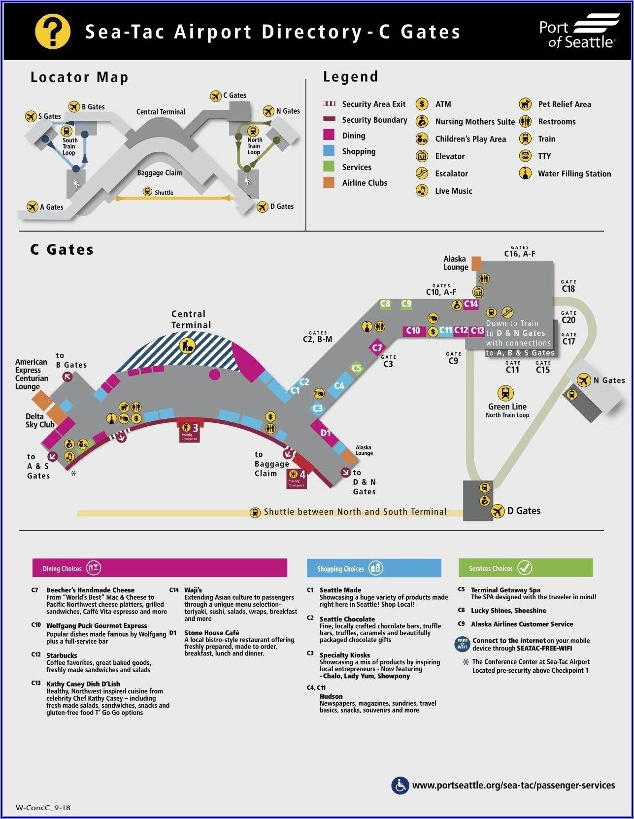 Seatac Airport Map C Gates
