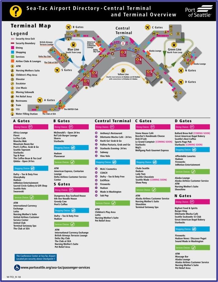Seatac Airport Map Delta Gates