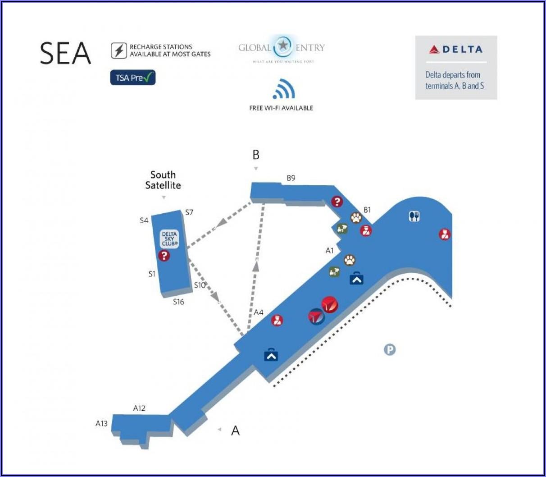 Seatac Airport Map Delta