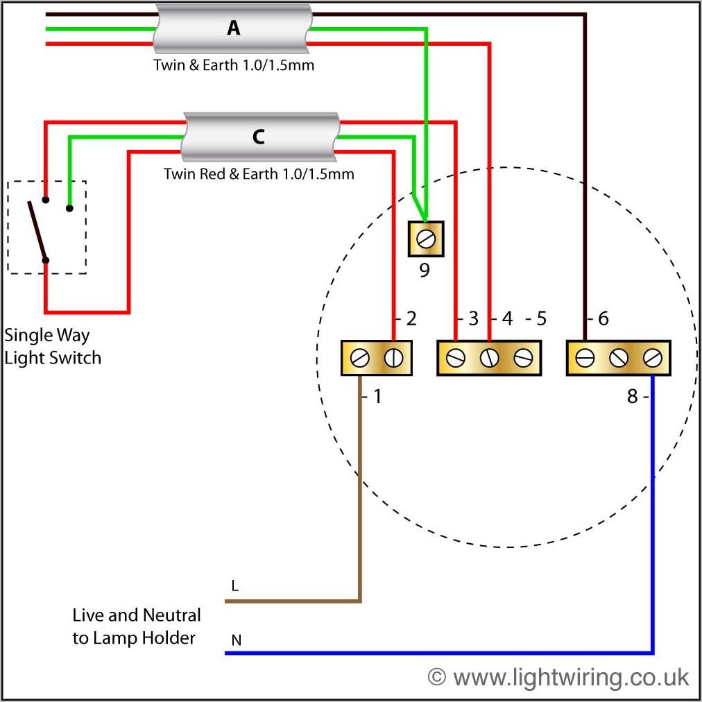 Single Light Switch Diagram Uk