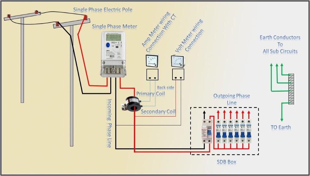 Single Phase Sub Meter Wiring Diagram