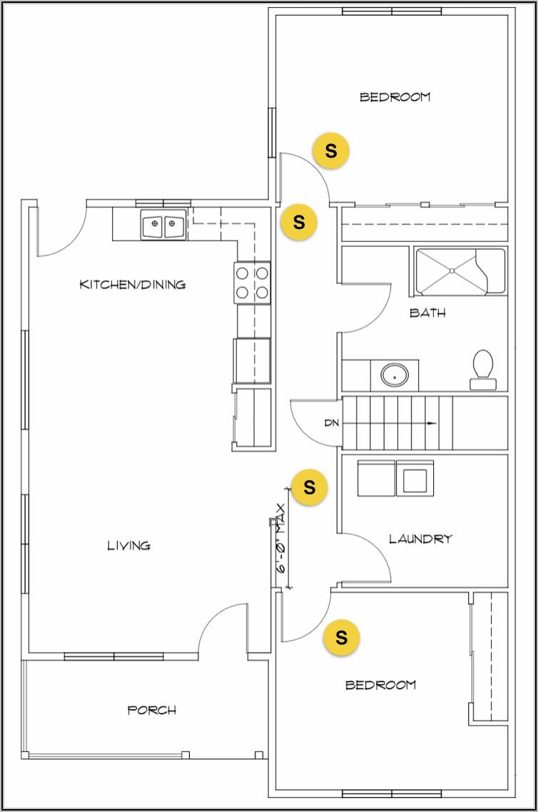 Smoke Detector Placement Diagram Commercial Building
