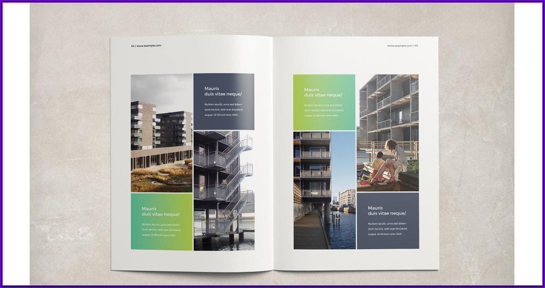 Square 4 Fold Brochure Mockup Free
