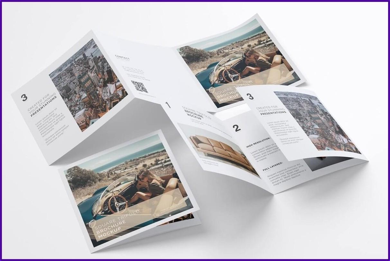 Square Booklet Mockup Free Psd