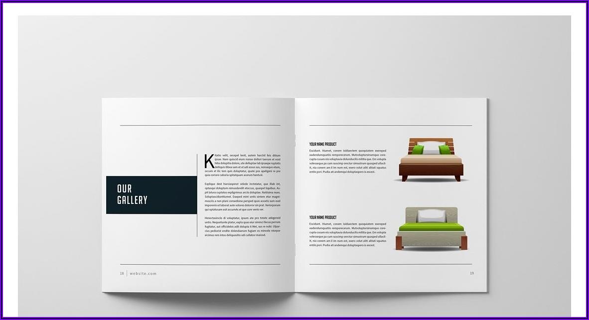 Square Brochure Mockup Free Download