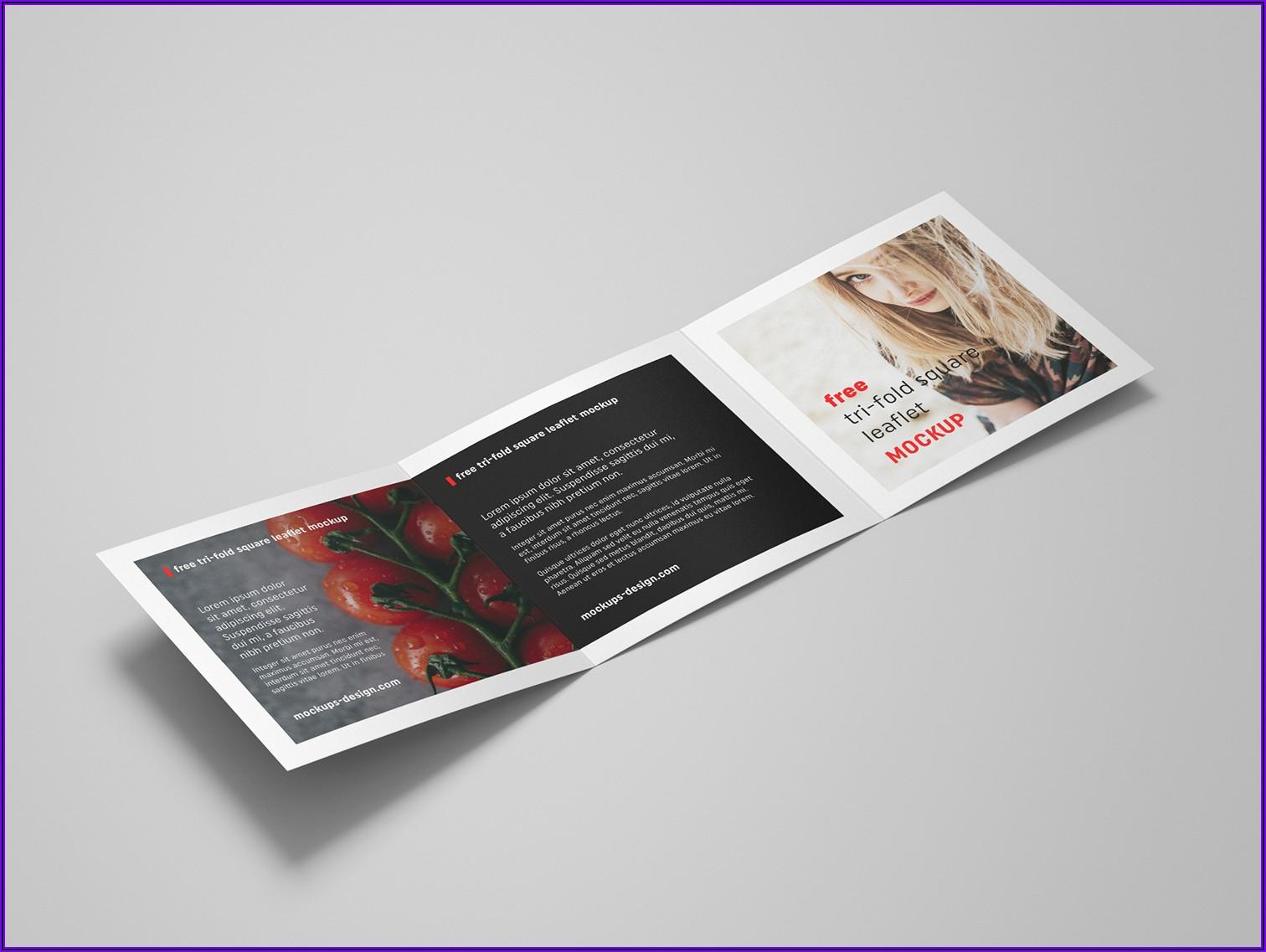 Square Leaflet Mockup Free