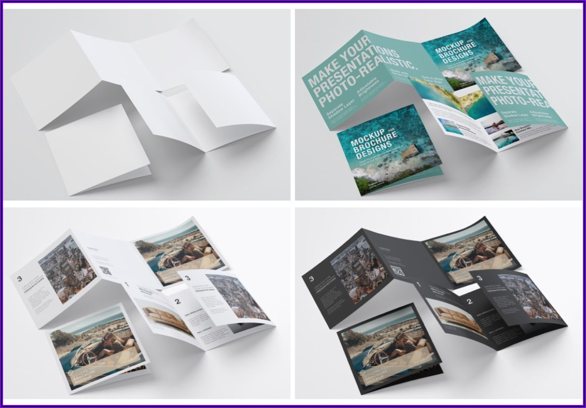 Square Trifold Brochure Mockup Psd Free