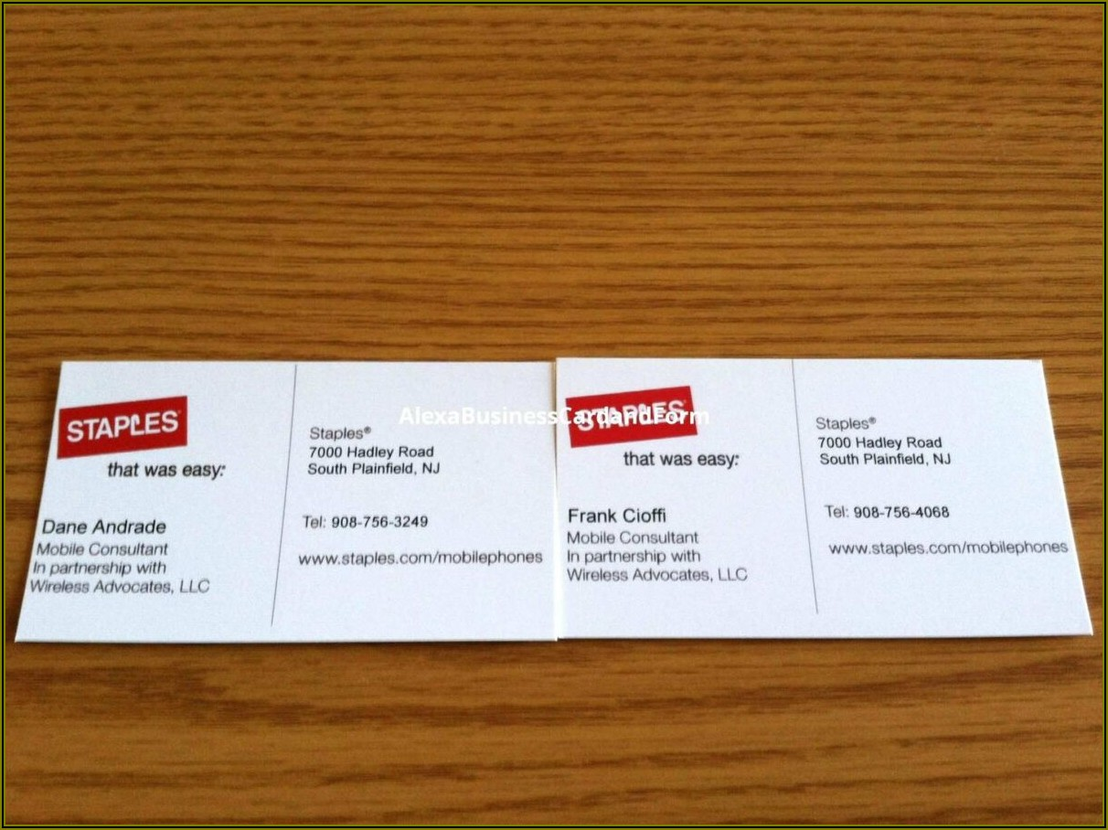 Staples Business Card Template Download