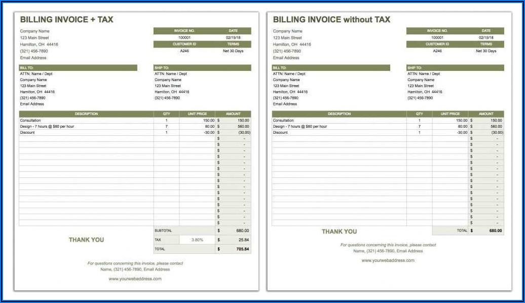 Subcontractor Invoice Template Australia