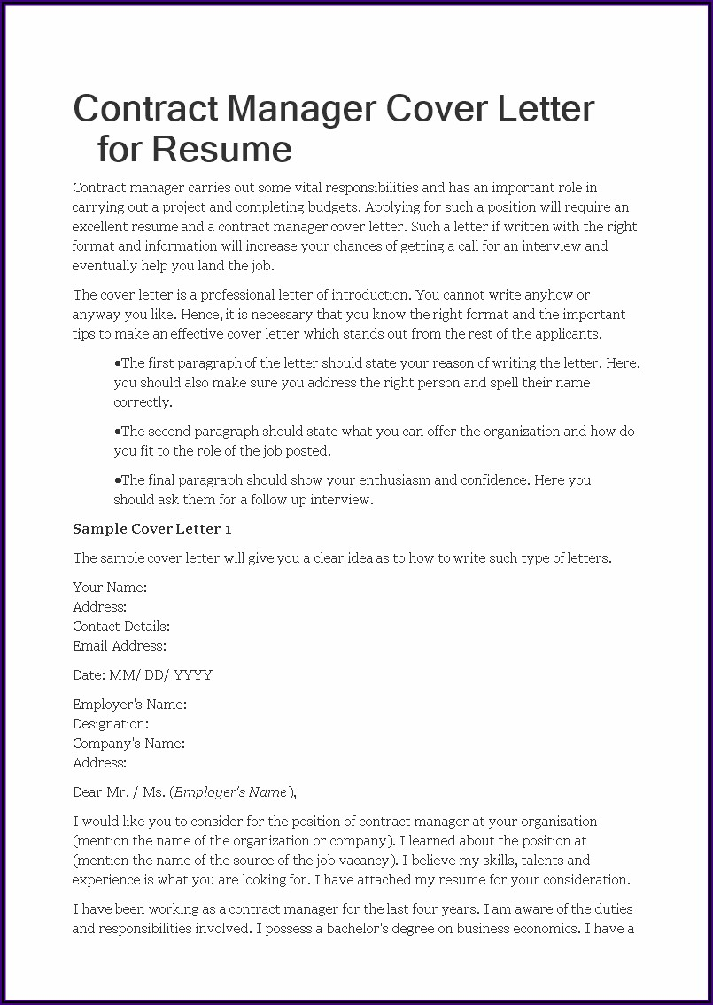 Templates For Resume Cover Letter