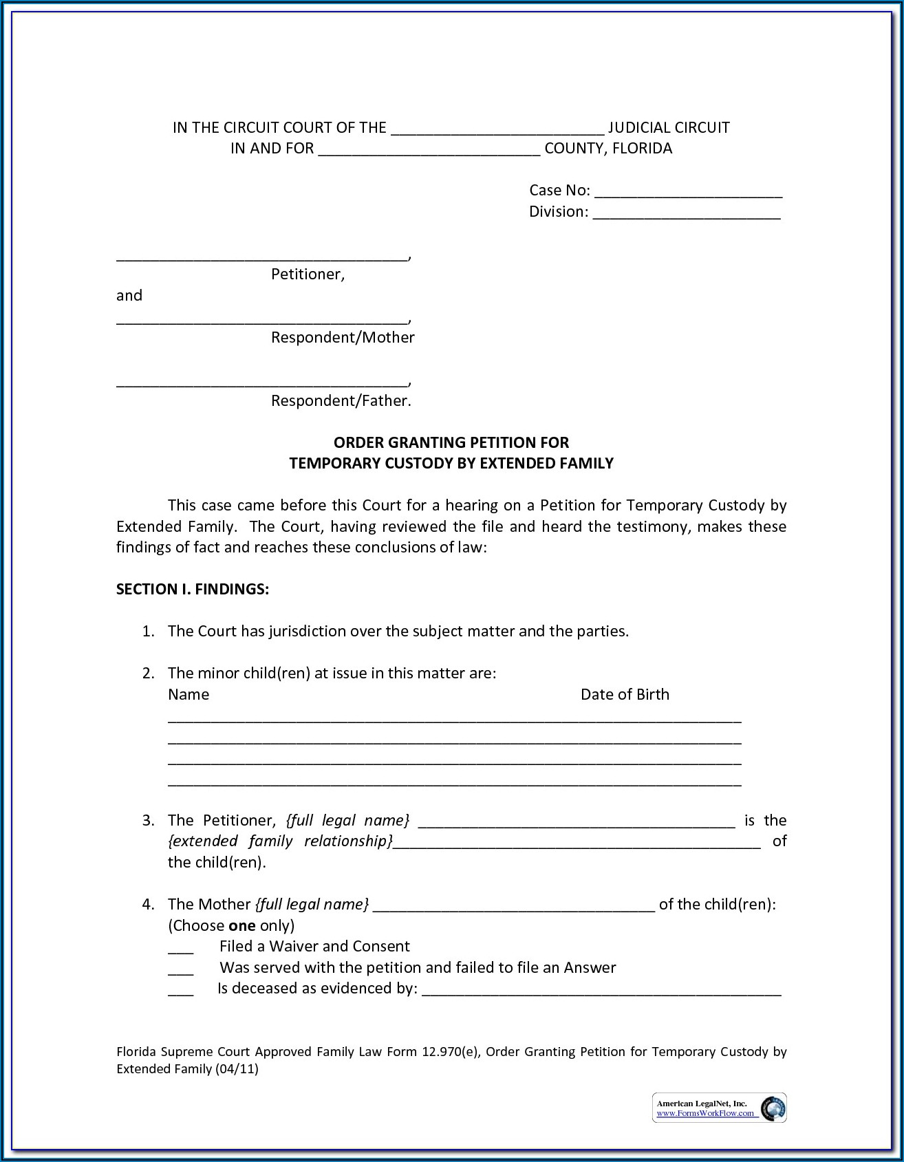 Temporary Guardianship Forms In Texas