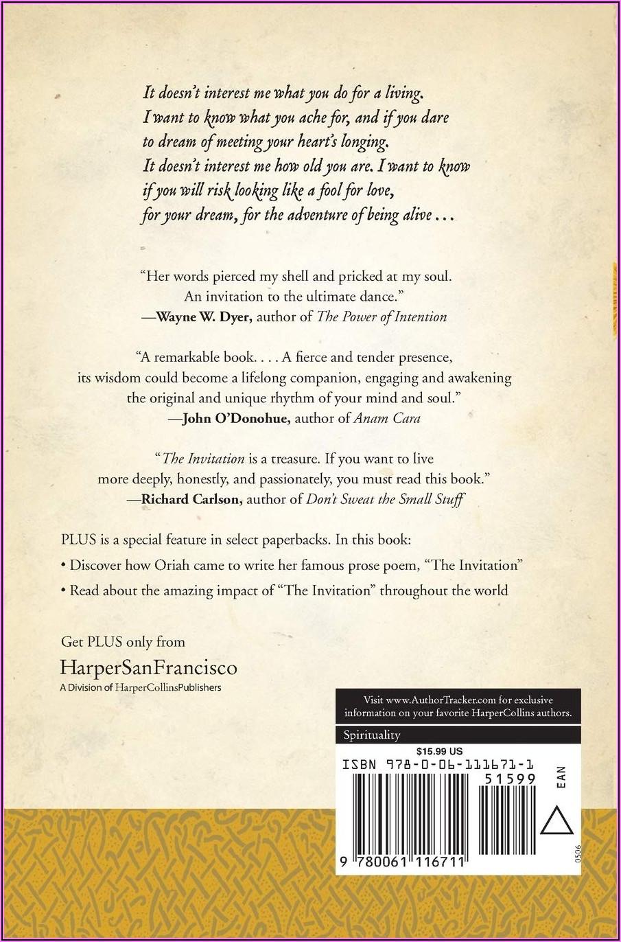 The Invitation Poem By Oriah Mountain Dreamer Amazon