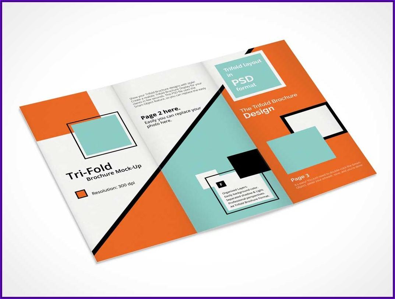Tri Fold Brochure Mockup A4