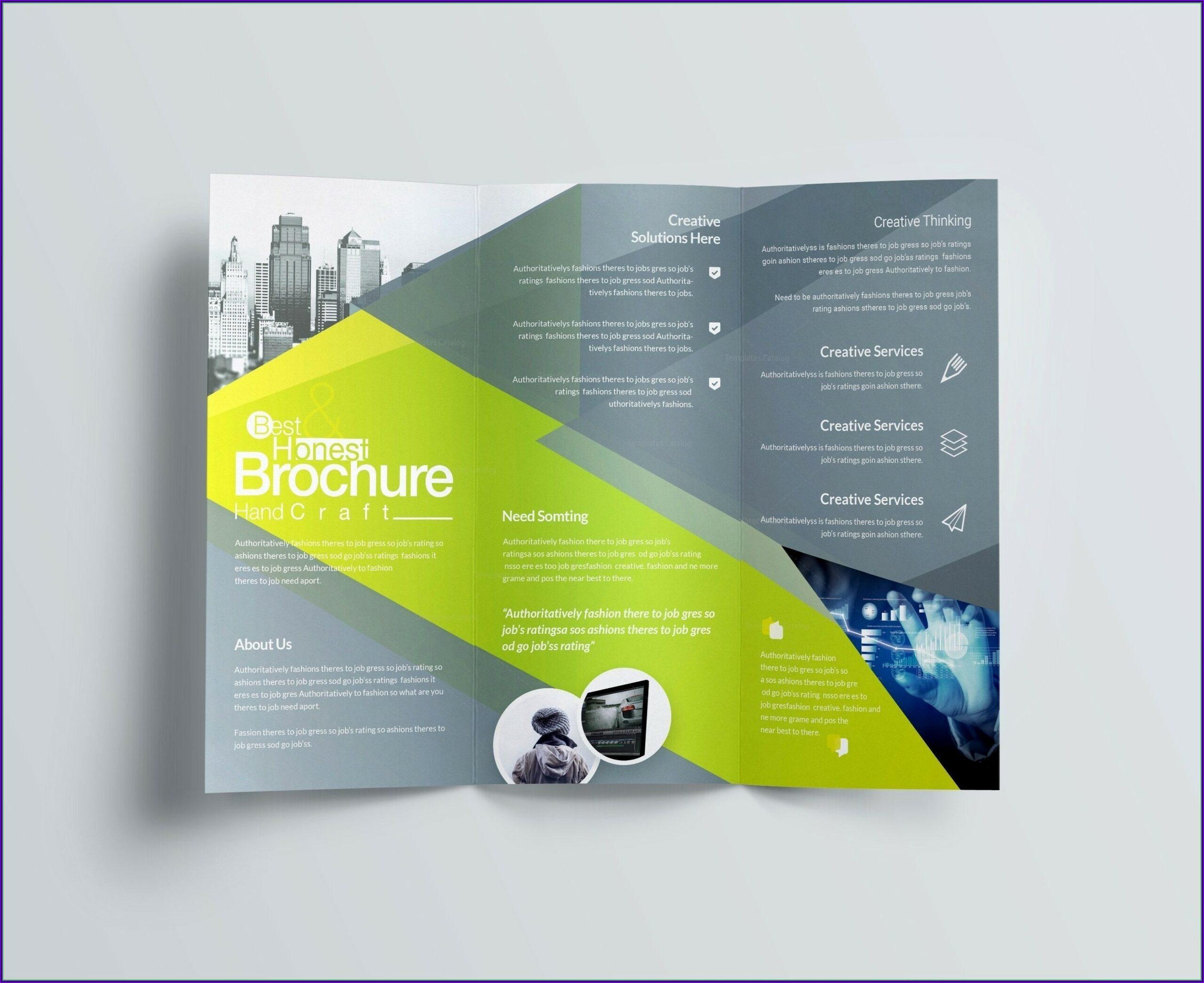 Tri Fold Brochure Template Free Pdf