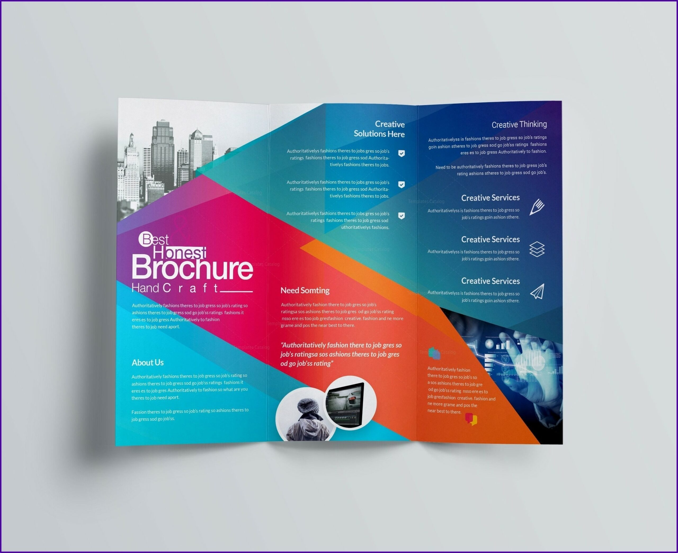 Two Fold Brochure Template Word
