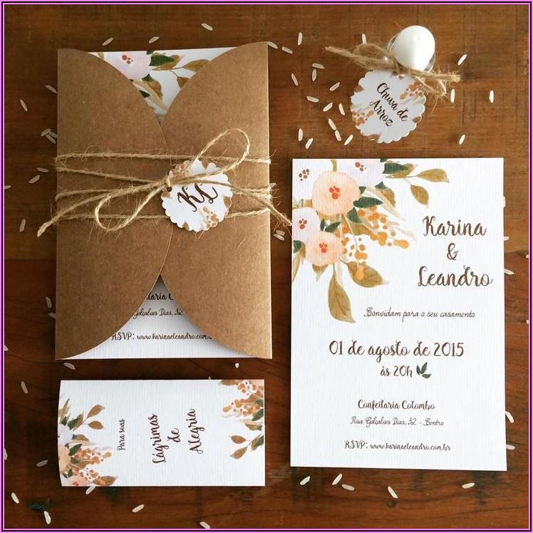 Vintage Rustic Wedding Invitations Diy