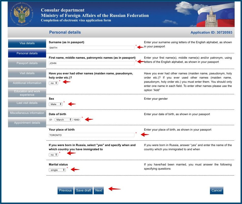 Visa Application Form For India From Canada