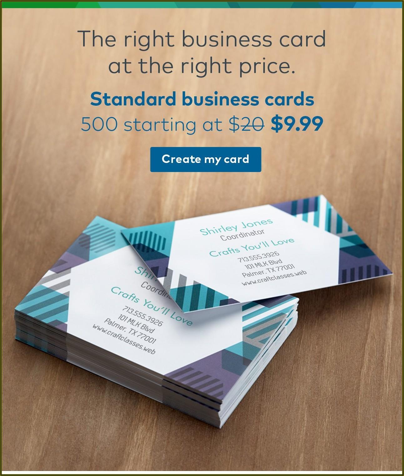 Vistaprint 500 Business Cards For $20