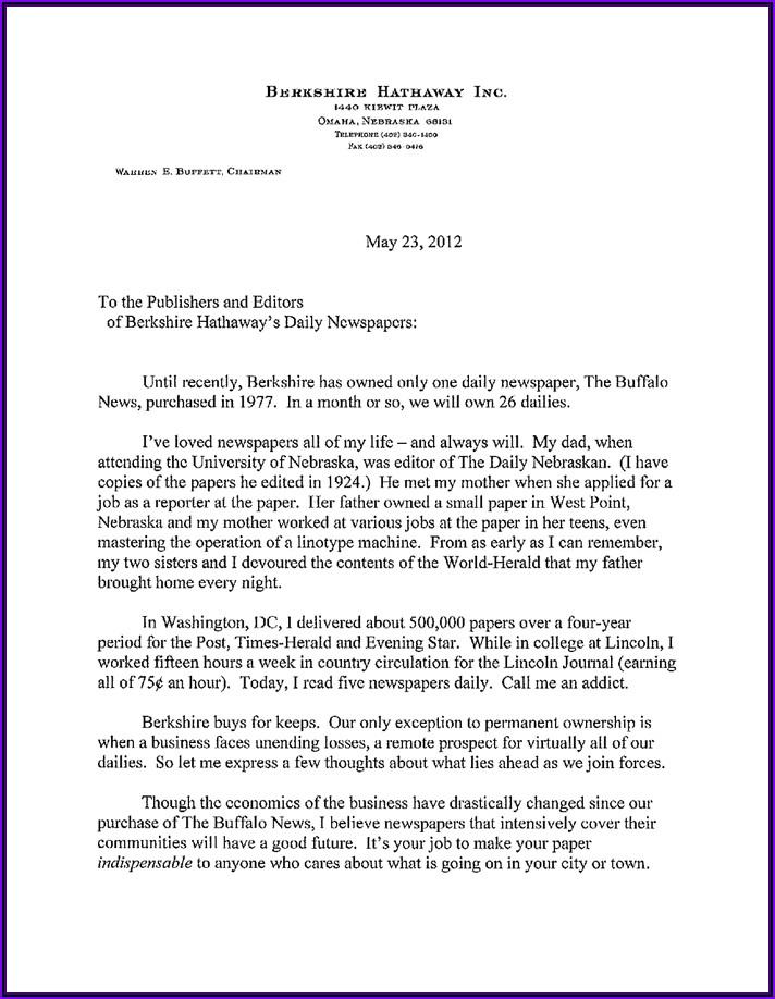 Warren Buffett Annual Letters