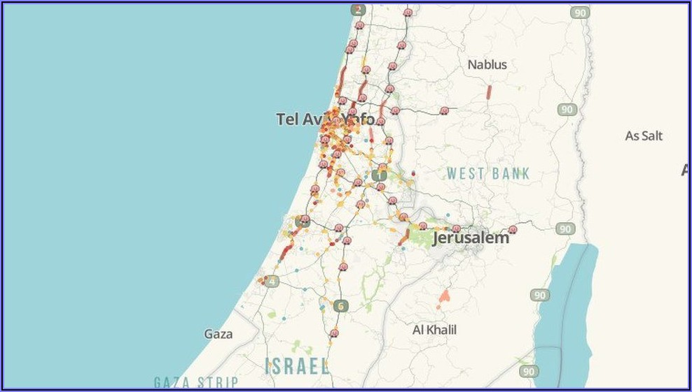 Waze Live Map Israel