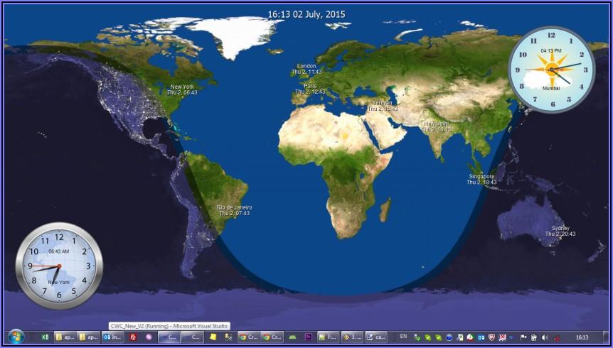 World Clock Map Live