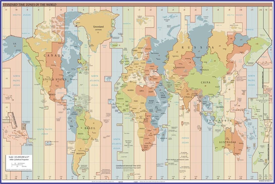 World Clock Map Usa