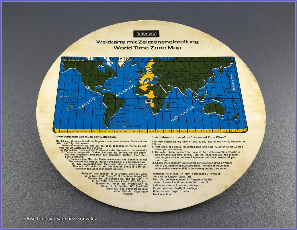 World Clock Time Zone Map