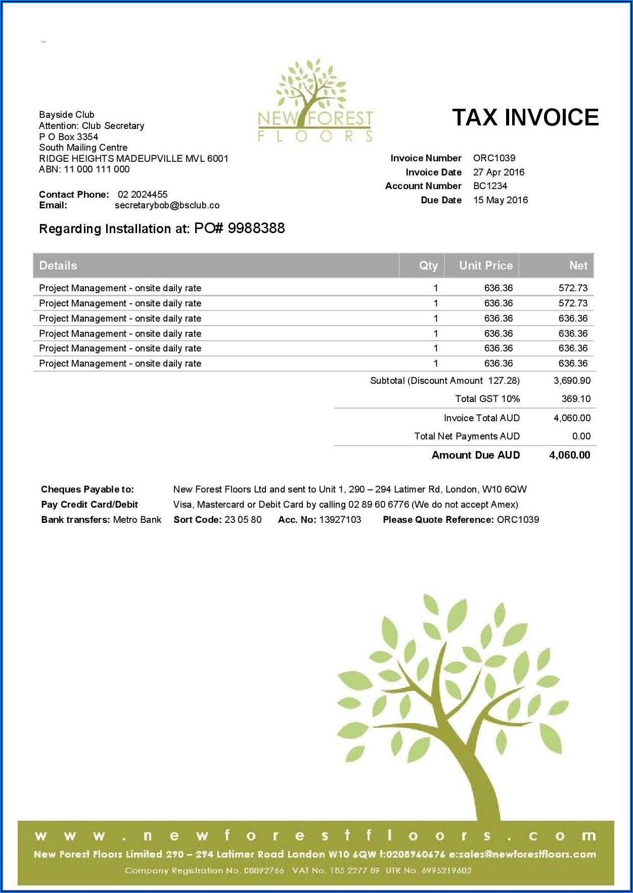 Xero Custom Invoice Template Fields