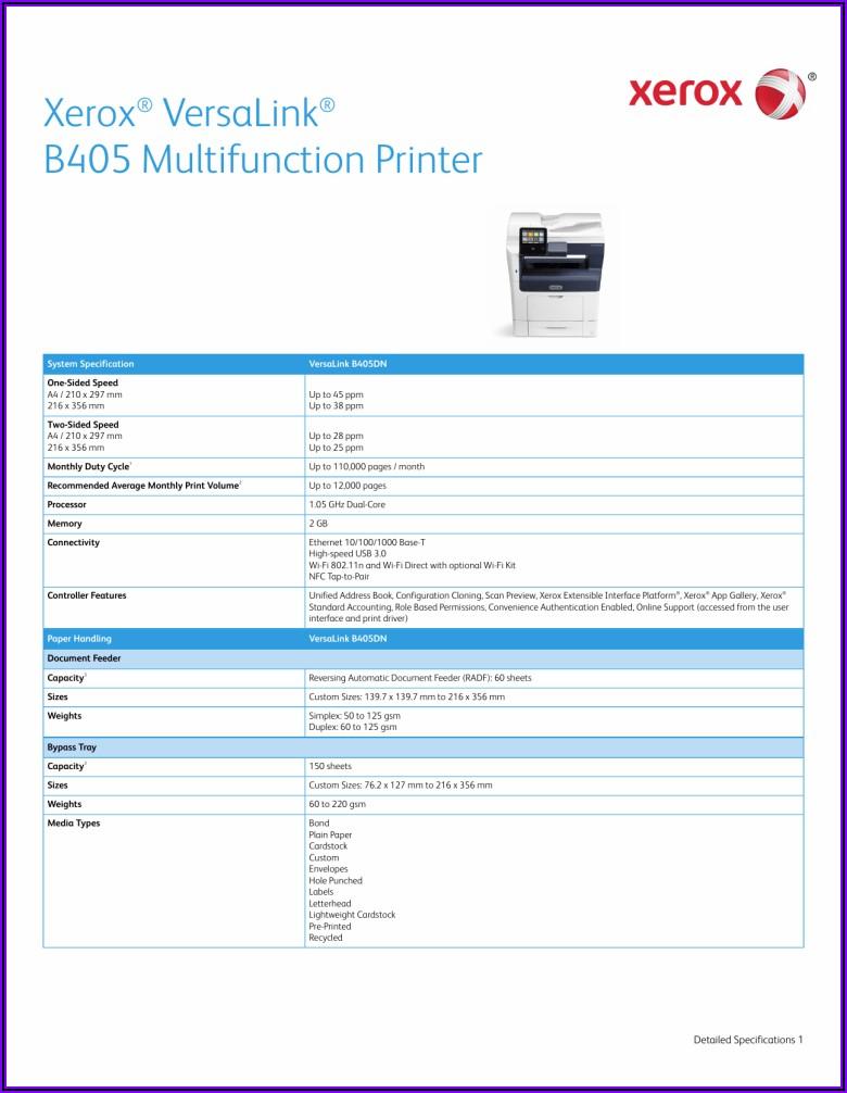 Xerox B405 Brochure Pdf