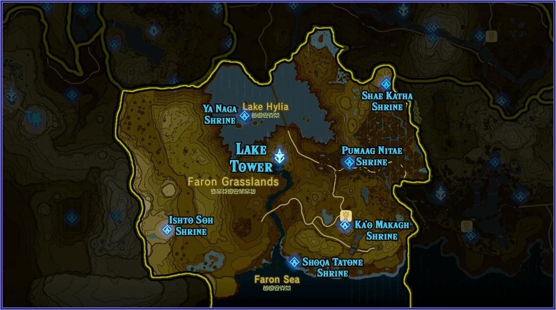 Zelda Botw All Shrine Locations Map
