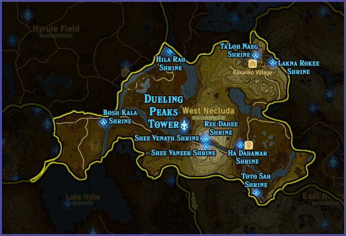 Zelda Botw Shrine Location Map