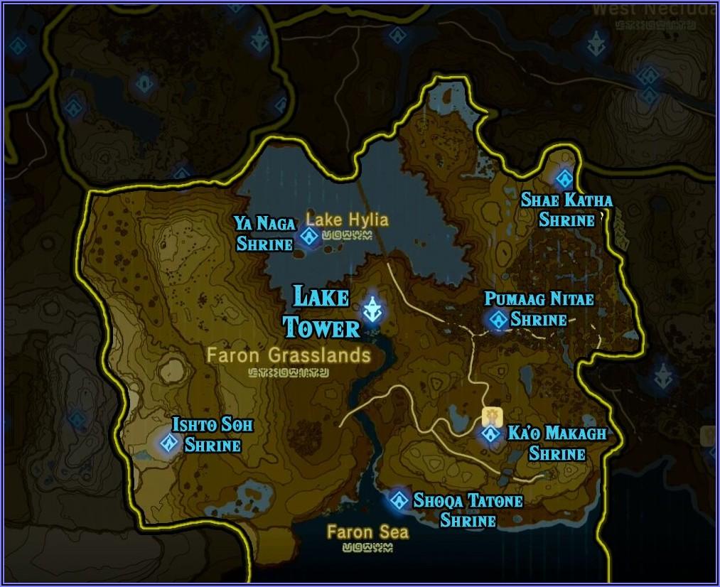 Zelda Breath Of The Wild Shrine Maps