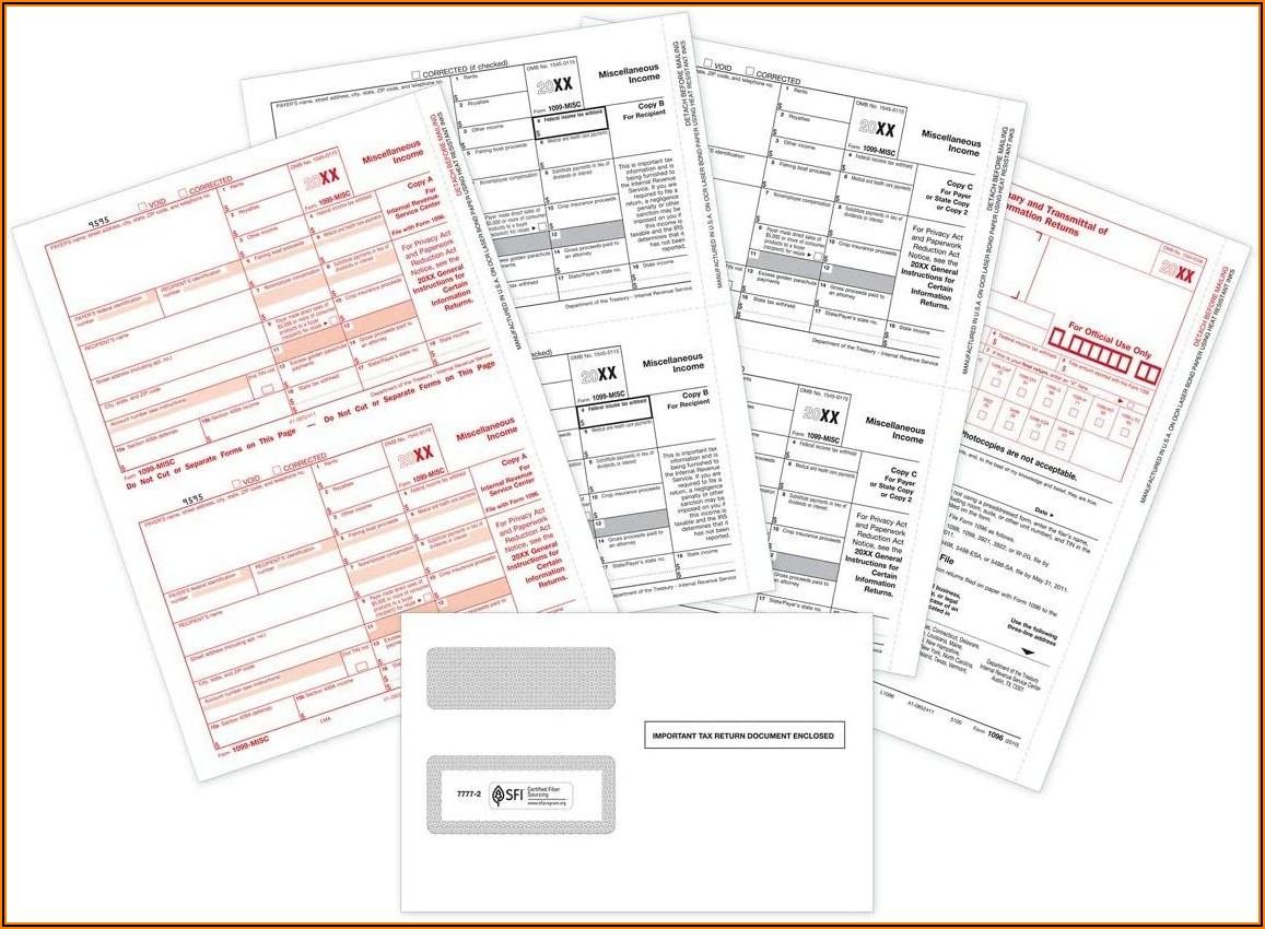 1099 Misc Forms For Laser Printer
