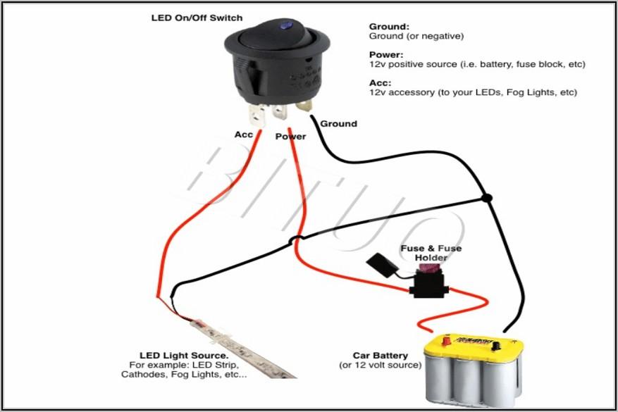 12 Volt Illuminated Rocker Switch Wiring Diagram