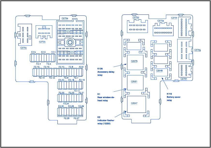 2002 Ford Explorer Fuse Block Diagram