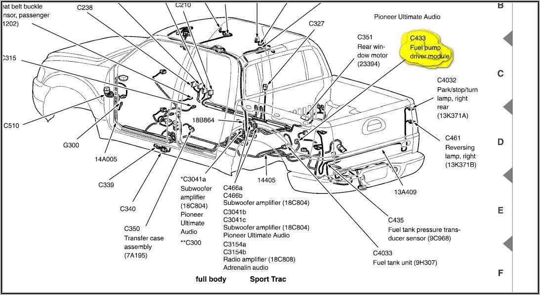 2002 Ford Explorer Sport Trac Fuel Pump Wiring Diagram