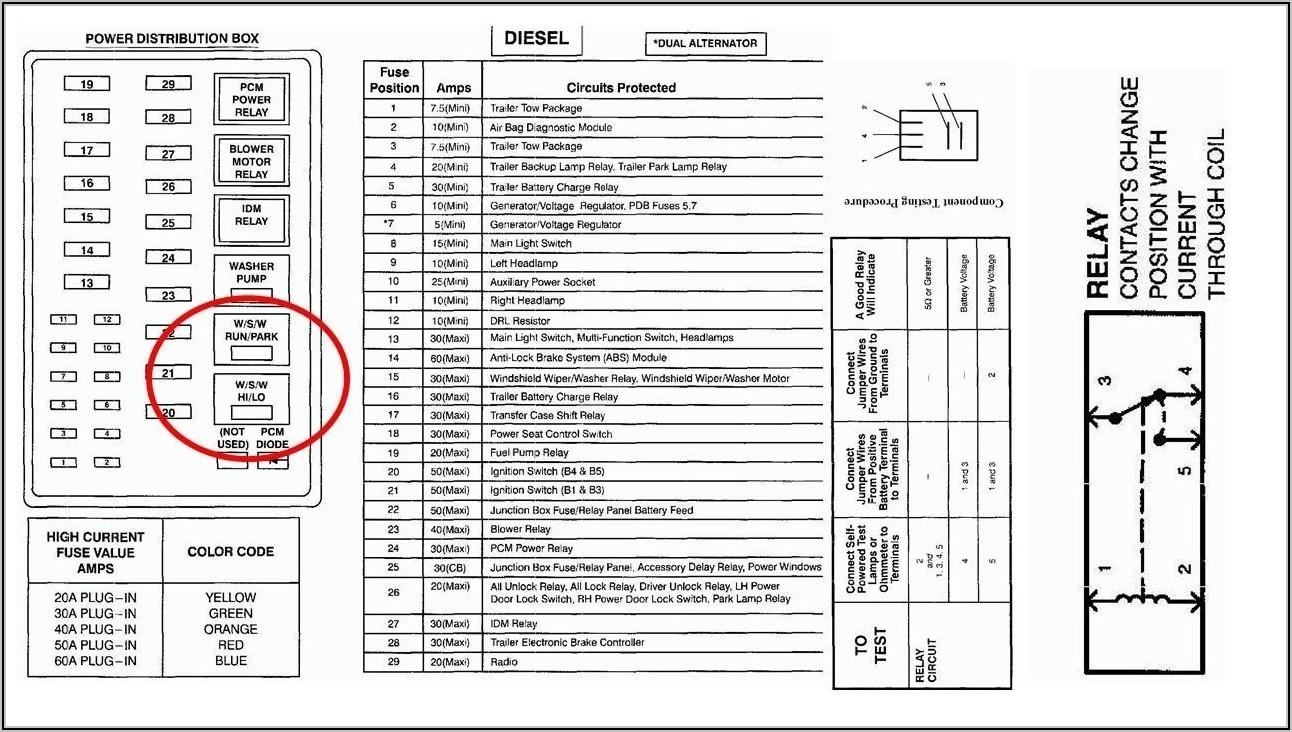 2008 Ford F250 Fuse Box Diagram