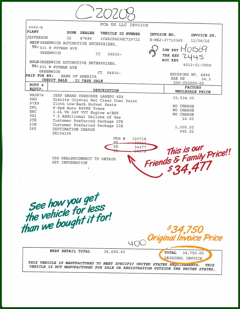 2018 Jeep Grand Cherokee Invoice Price