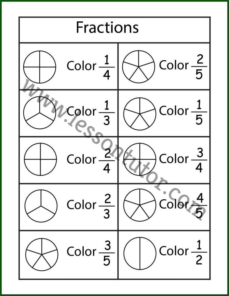 4 Grade Fraction Worksheets