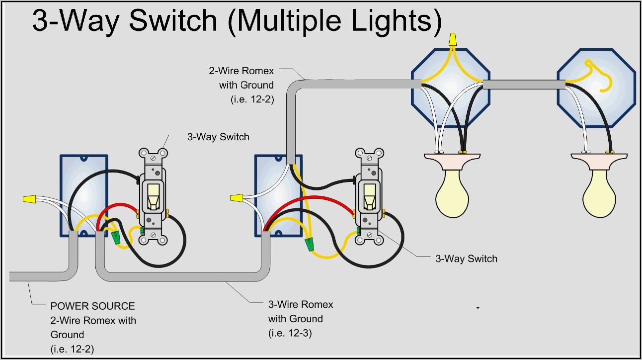 4 Way Switch Wiring Diagram Multiple Lights Power At Light