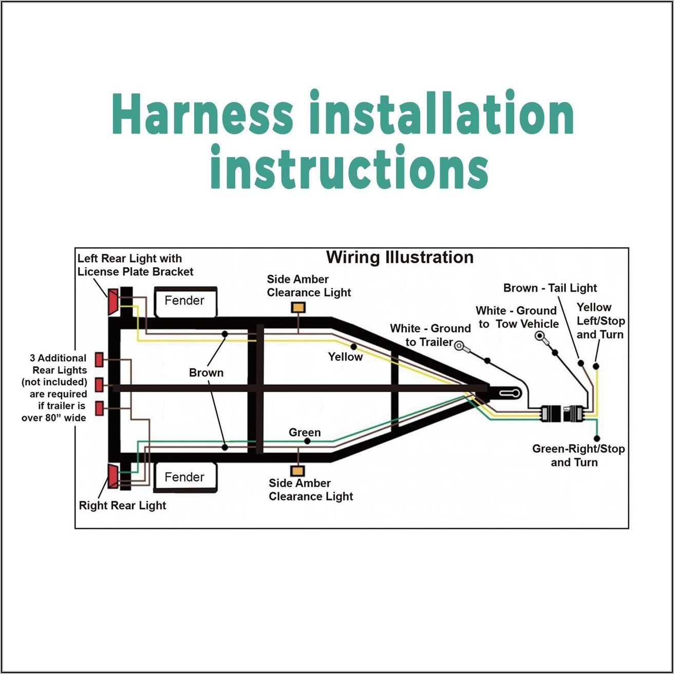 4 Wire Trailer Harness Schematic