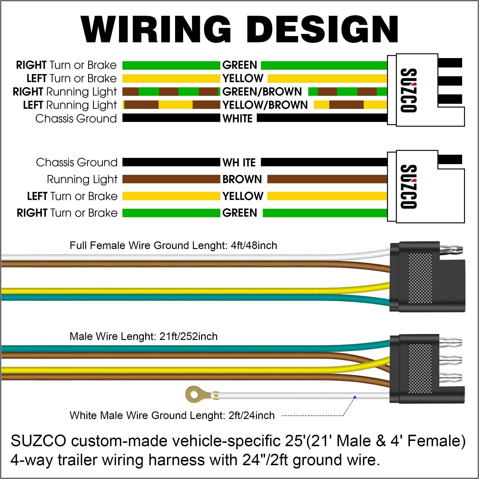 4 Wire Trailer Light Wiring